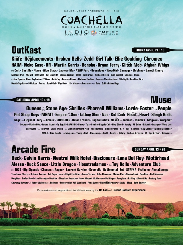 Coachella Music Festival Line up 2014