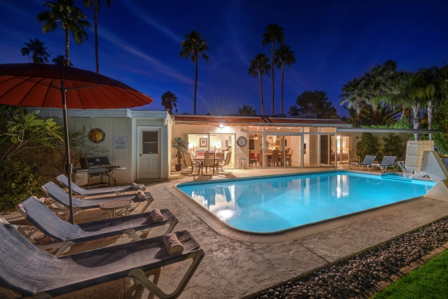 Villa del Sol • Central Palm Springs CA • Vacation Rental Pool Home